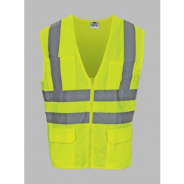 Lime Surveyor Reflective Safety Vest