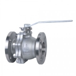 Two Pieces Flanged Floating Ball Valve