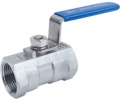 One piece ball valve with lock